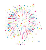 Vector fireworks background. Vector colorful fireworks background with stars and sparkles Royalty Free Stock Images