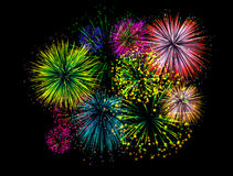 Fireworks on background Royalty Free Stock Photo