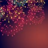 Fireworks background for diwali festival. Vector Stock Photo