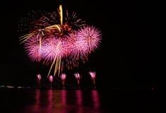 Fireworks. Background festival night light stock photography