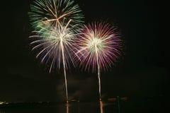 Fireworks background. Background fireworks happy new bight stock photos