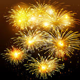 Fireworks background. Happy New Year fireworks background Royalty Free Stock Photo