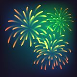 Fireworks Background Happy New Year Stock Photography