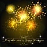Fireworks background. Illustration of Fireworks on black background Royalty Free Stock Images