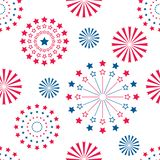 Fireworks background for Independence Day. 4 th of July. Vector Design stock illustration