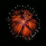 Fireworks background. Fireworks isolated. Orange firewroks. Orange fireworks. Fireworks festival. New Year Royalty Free Stock Photo