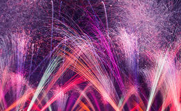 Fireworks background panoramic view Royalty Free Stock Photos