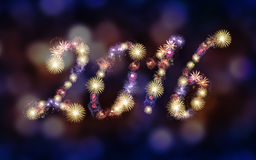 2016 Fireworks background, Party Stock Photos