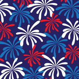 Fireworks background pattern. Fireworks red white blue background Stock Photography