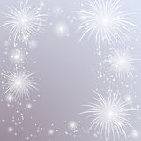 Fireworks background. With place for your text. Vector Royalty Free Stock Photo