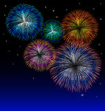 Fireworks background with star vector Royalty Free Stock Image
