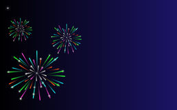 Fireworks. Background for text, advertising, business cards in vector Royalty Free Stock Photo
