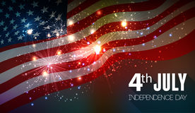 Fireworks background for 4th of July Royalty Free Stock Image