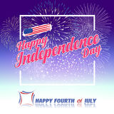 Fireworks background for USA Independence Day. Fourth of July celebrate Stock Image