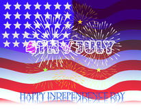 Fireworks background for USA Independence Day. Fourth of July celebrate.  Royalty Free Stock Photo