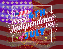 Fireworks background for USA Independence Day. Fourth of July celebrate.  Stock Photos