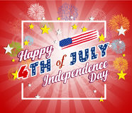 Fireworks background for USA Independence Day. Fourth of July celebrate.  Royalty Free Stock Image