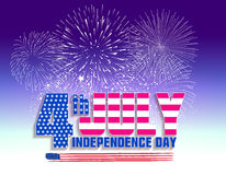Fireworks background for USA Independence Day. Fourth of July celebrate.  Stock Photography