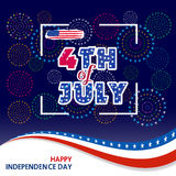 Fireworks background for USA Independence Day. Fourth of July celebrate.  Stock Images