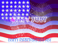 Fireworks background for USA Independence Day. Fourth of July celebrate Stock Photos