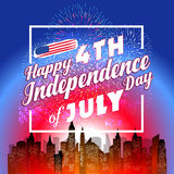Fireworks background for USA Independence Day. Fourth of July celebrate Royalty Free Stock Images
