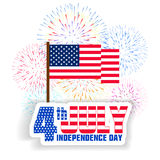 Fireworks background for USA Independence Day. Fourth of July celebrate.  Royalty Free Stock Photos