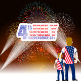 Fireworks background for USA Independence Day. Fourth of July celebrate.  Royalty Free Stock Photography
