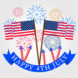 Fireworks background for USA Independence Day. Fourth of July celebrate.  Stock Photo