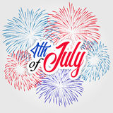 Fireworks background for USA Independence Day. Fourth of July celebrate.  Royalty Free Stock Images