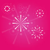 Fireworks background vector Royalty Free Stock Photo