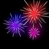 Fireworks Background. Vector illustration. This is file of EPS10 format Royalty Free Stock Photos