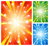 Fireworks backgrounds. Set of 3 fireworks backgrounds. EPS10 Stock Image