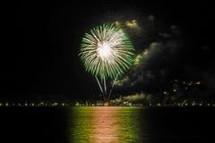 Fireworks in Bad Wiessee, Lake Tegernsee Stock Images