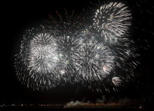 Fireworks on Bahrain national day Stock Photography