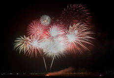 Fireworks on Bahrain national day Royalty Free Stock Images