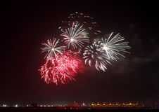 Fireworks in Bahrain sky Stock Photos
