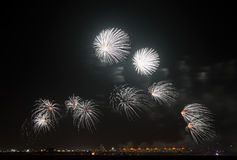 Fireworks in Bahrain sky on National Day Royalty Free Stock Photo