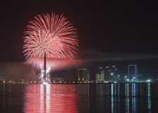 Fireworks in Baku Royalty Free Stock Image