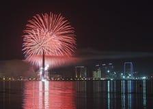 Fireworks in Baku royalty free stock image