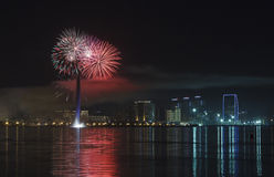 Fireworks in Baku Royalty Free Stock Images