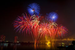 Fireworks. The Bangkok fireworks in thailand Royalty Free Stock Image