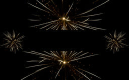 Fireworks banner on black Royalty Free Stock Image