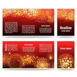 Fireworks banner design Stock Photo