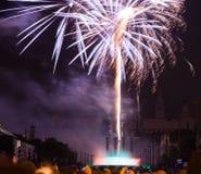 Fireworks in Barcelona Stock Photos
