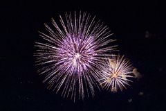 Fireworks by the Bay stock photography