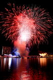 Fireworks by the bay Royalty Free Stock Photography