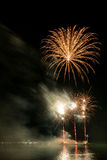 Fireworks on the beach Royalty Free Stock Image