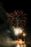 Fireworks on the beach Royalty Free Stock Images