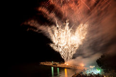Fireworks on the beach Stock Photography