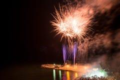 Fireworks on the beach Stock Photos